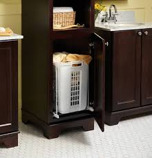 pull out baskets for bathroom cabinets linen cabinet with laundry her bathroom cabinet with built in