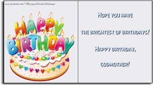 greetings cards for birthday for godmother hope you have the