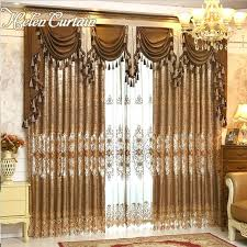 home design 3d gold windows curtains valances styles curtain luxury gold embroidered curtains