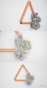 easy modern diy copper decor with concrete flowers anika u0027s diy life