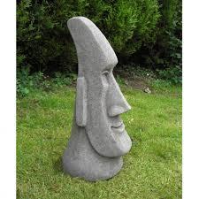 large easter island moai garden statues onefold uk