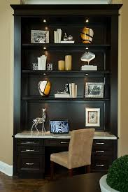 Desk Bookcase Wall Unit Blooming Wall Unit Desk With Upholstered Swivel Chair Built In