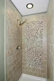 Tile Shower Ideas For Small Bathrooms by Bathroom Cozy Bathtub With Rainfall Shower Head And Merola Tile