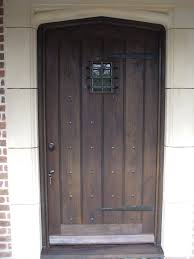 gothic style oak front door and frame aged and polished complete