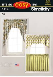 simplicity 1414 it u0027s so easy valances and cafe curtains