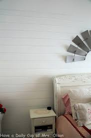 have a daily cup of mrs olson diy shiplap in the bedroom