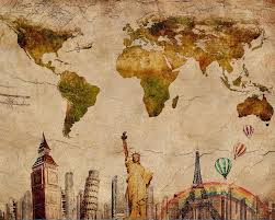 Diy World Map by Window Railing Picture More Detailed Picture About Vintage World