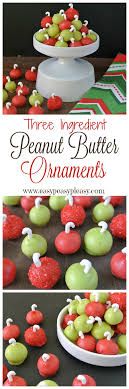 easy 3 ingredient peanut butter ornaments easy peasy pleasy