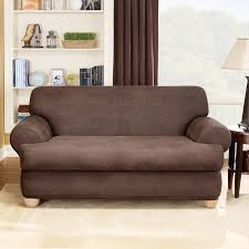 Slipcovers T Cushion Sure Fit Stretch Leather T Cushion Loveseat Slipcover U0026 Reviews