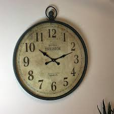 antiqued extra large pocket watch wall clock shabby chic the