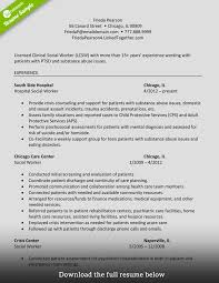 Case Worker Resume Resume For Social Workers Resume For Your Job Application