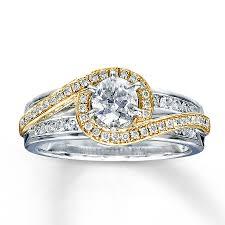 jareds wedding rings 14k two tone gold 7 8 carat t w diamond ring jareds 2 299 99