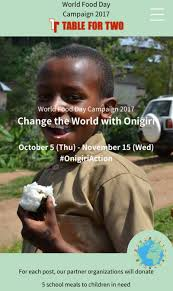 table for two celebrates world food day 2017 change the world