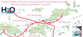 map of bvi and usvi ferry us islands to islands h2o trips
