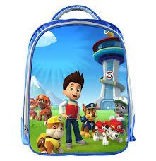 cartoon cute puppy patrol kindergarten bags backpack kids boys