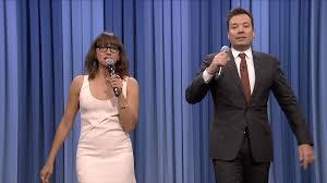 tonight show jimmy fallon rashida jones sing parodies