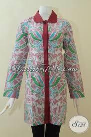 desain baju batik halus pakaian batik wanita muda blus batik printing halus motif bagus