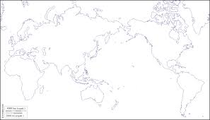 Map Of The World Black And White by World Pacific Ocean Centered Free Map Free Blank Map Free