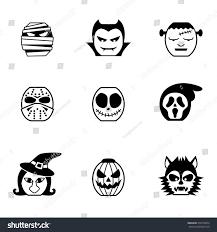Monster Faces For Halloween Icon Set Halloween Characters Halloween Monster Stock Vector