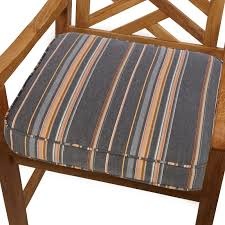 Striped Patio Chair Cushions by Mozaic Company 22 5 X 22 5 In Sunbrella Striped Outdoor Square