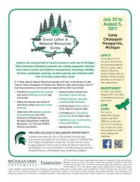 programs natural resources weeds and 4 h great lakes and natural resources camp msu extension