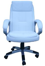 Blue Leather Executive Office Chair Articles With Executive High Back Office Chair In Black Colour By