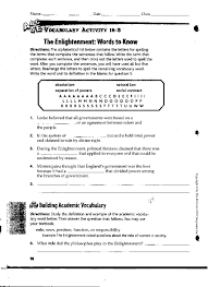 American Government Worksheets Enlightenment Worksheet Worksheets Reviewrevitol Free Printable