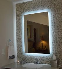Bathroom Mirror With Lights Built In Bathroom Mirror With Lights Built In Curve Clear Tempered Glass