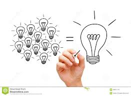 teamwork light bulbs concept stock photo image 38847718