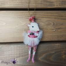 gisela graham white mouse ballerina hanging tree