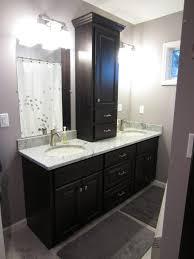bathroom furniture dark wood brown wall mounted wicker shaker