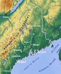 Map Of Maine Towns Reference Map Of Maine Usa Nations Online Project