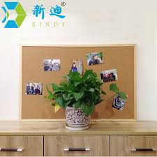 Cork Board Decorative Frame Free Accessories 60 90cm Message Wood Frame Bulletin Cork Board