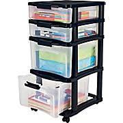 Skinny Storage Drawers Plastic Storage Drawers Rolling Carts Staples