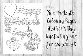free printable mother u0027s coloring pages 4 designs
