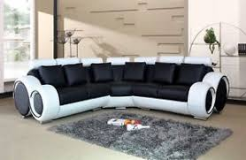 leather corner sofa black and white bonded leather corner sofa 2 corner 2 ebay