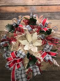 decorative wreaths for the home christmas wreath holiday wreath rustic holiday wreath burlap
