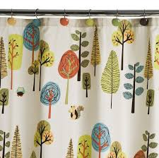Polished Chrome Shower Curtain Rod Contemporary Decoration Bathroom With Squirrel Owl Shower Curtain