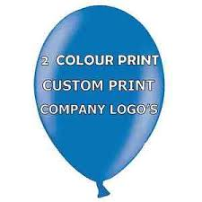 personalised balloons 200 personalised balloons 2 colour print logos promotions