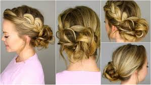 Easy Country Hairstyles by French Braid Into Messy Bun Youtube