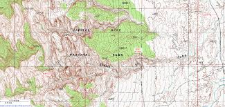 capitol reef national park map topographic map of sheets gulch capitol reef national park utah