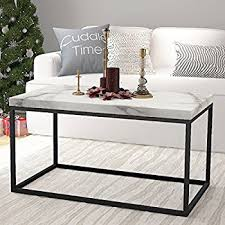 rectangular marble coffee table amazon com roomfitters marble print top coffee table living room
