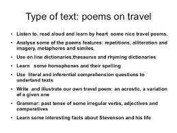Traveling poems distination co