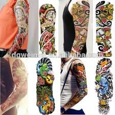 full arm temporary tattoo waterproof extra large tattoos sticker