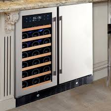 stylish built in wine fridge u2014 rs floral design different built