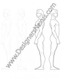 side view male fashion figure template v5 designers nexus