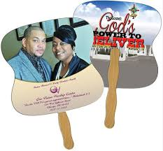 church fans square 24 hour custom promotional