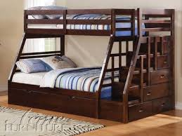 Bunk Bed Sets Ac37015 Jason Espresso Solid Wood Bunk Bed Set