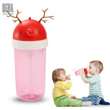 aliexpress com buy 360ml antler cartoon baby straw cup children