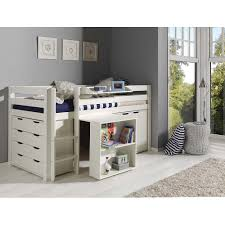 Ubi Changing Table Vipack Pino Mid Sleeper With Desk Chest Of Drawer And Cupboard